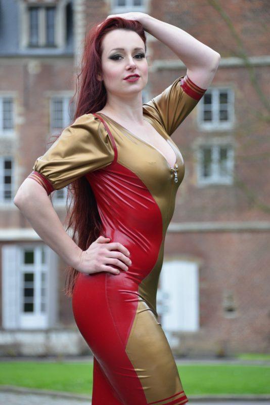 Latex Harlekino jurk