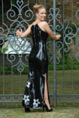 Latex Lotus Dress