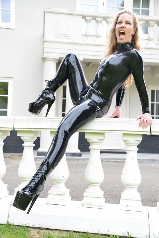 Latex Cups Catsuit