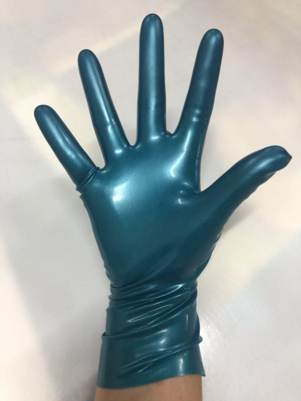 Latexa 25cm Gloves Metallic Blue
