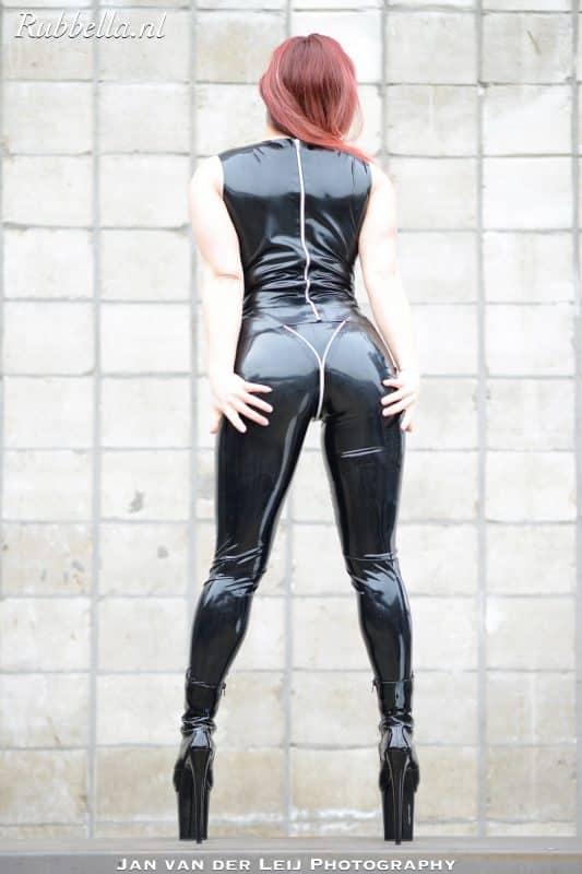 Latex V-zip Legging